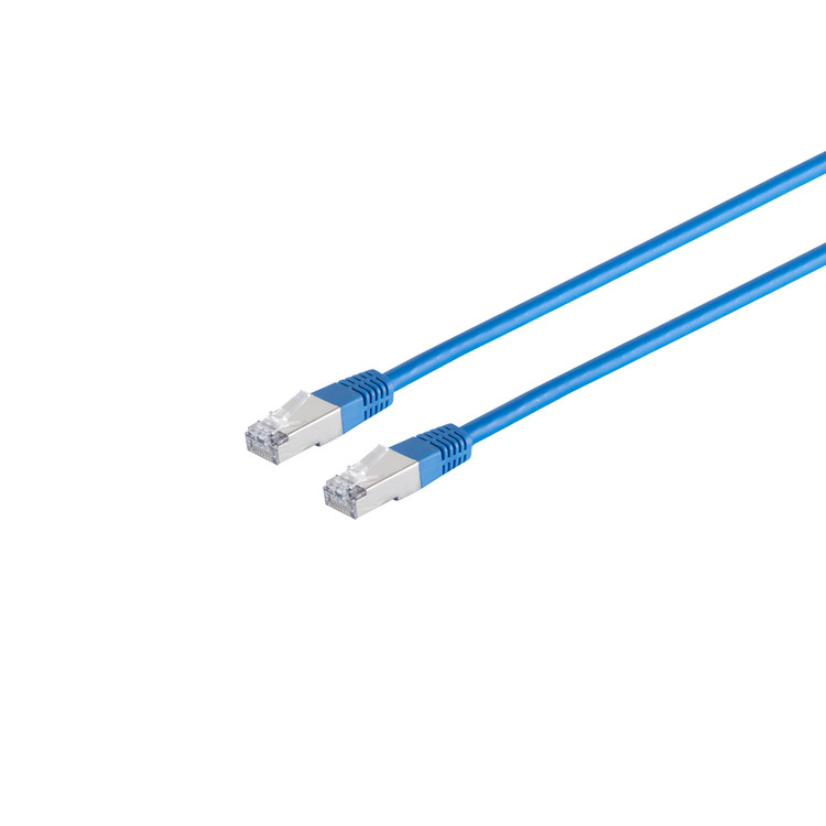 Patchkabel cat. 5e F/UTP blau 2m