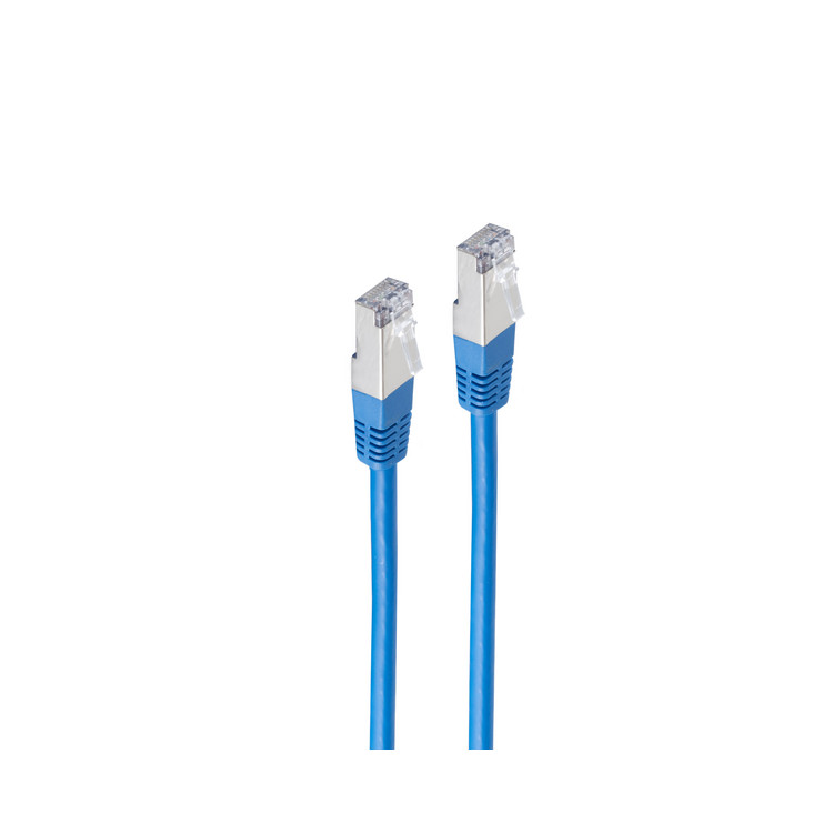 Patchkabel cat. 5e F/UTP blau 1m