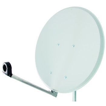 Sat Antenne Click-Clack STAHL 65cm hell