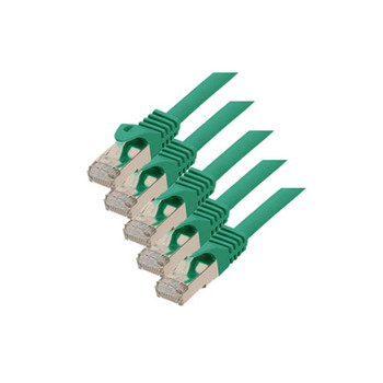 RJ45 Patchkabel m. CAT 7 Rohkabel  PIMF grün 3m