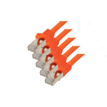 RJ45 Patchkabel m. CAT 7 Rohkabel  PIMF orange 5m