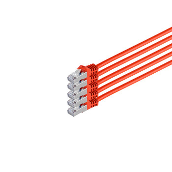 RJ45 Patchkabel m. CAT 7 Rohkabel  PIMF rot 2m