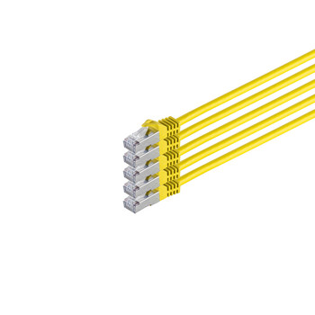 RJ45 Patchkabel m. CAT 7 Rohkabel  PIMF gelb 2m