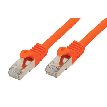 RJ45 Patchkabel m. CAT 7 Rohkabel  PIMF or. 0,25m