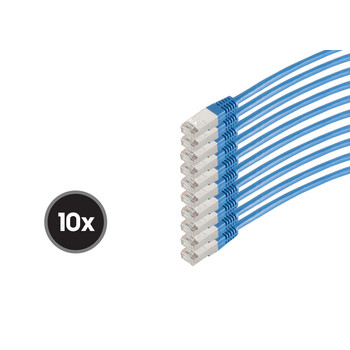 Patchkabel cat 6 S/FTP PIMF HF VE10 blau 0,5m