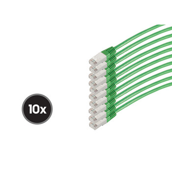 Patchkabel cat 6 S/FTP PIMF HF VE10 grün 0,25m