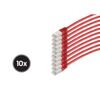 Patchkabel cat 6 S/FTP PIMF HF VE10 rot 0,25m