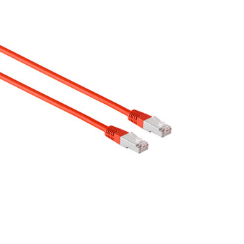 Patchkabel cat. 5e F/UTP rot 15m