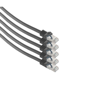 RJ45 Patchkabel m. CAT 7 Rohkabel  PIMF sw 0,5m