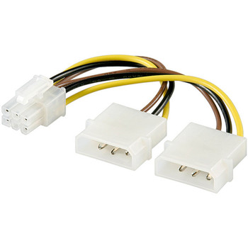 Internes Stromkabel-2x5,25 St. > PCI Express 0,15m